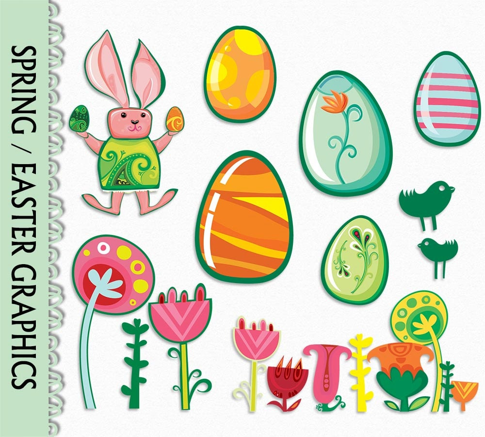 easter clip art graphic flowers plant nature spring clipart