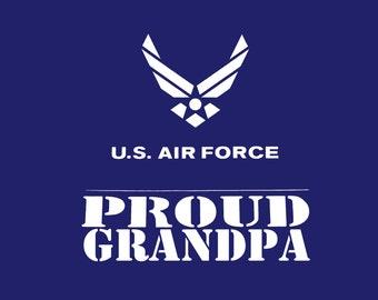 Proud Air Force Grandpa