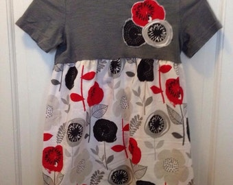 CLEARANCE Upcycled T-shirt dress girls size 4/5