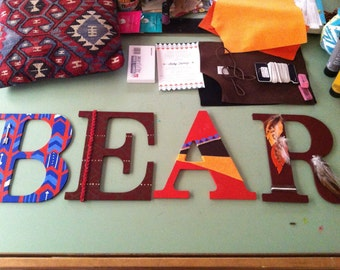 Hand made wall letters, nursery letters,