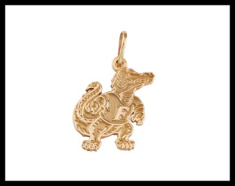 """14kt Gold or Sterling Silver 3/4"""" Albert Gator Pendant for Florida Gators - Made right here in Gainesville, Fl - Item #14558"""