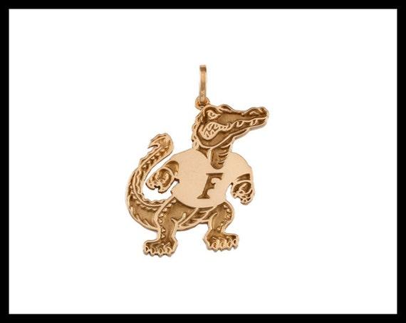 14kt gold or sterling silver 3 4 albert gator pendant
