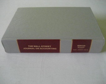 The Wall Street Journal on Accounting by Lee Berton, Jonathan B. Schiff. 1990 1st Printing with Full Number Line Hardcover.