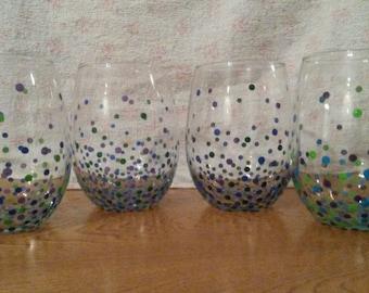 Multi Colored Confetti Glass