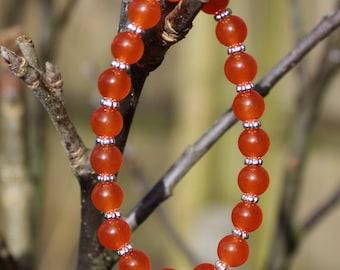 Orange Elasticated Bracelet