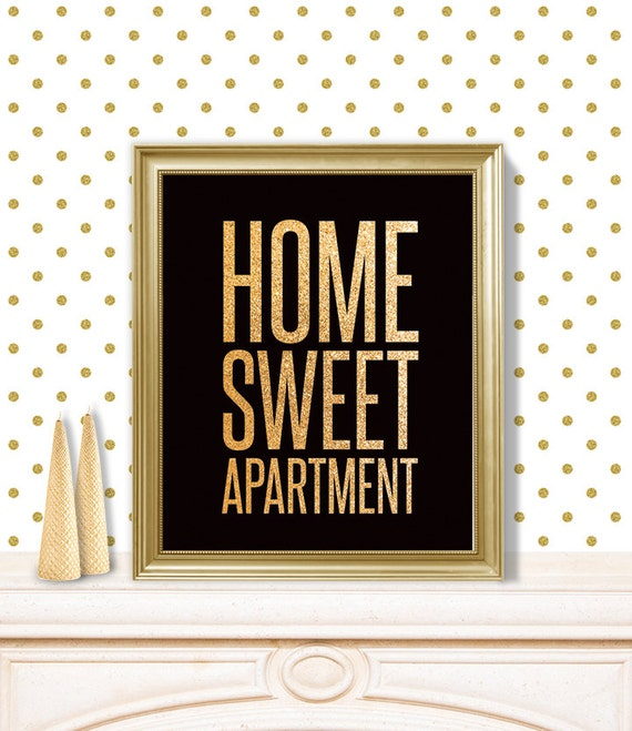 Apartment Listing: Home Sweet Apartment // Printable Poster PDF // Cute Funny