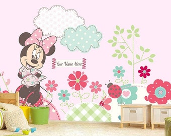 Minnie Mouse Wall Decals Etsy Uk