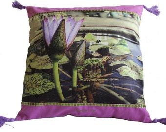 cover #coton #fleurdelotus # 40 x 40 cm