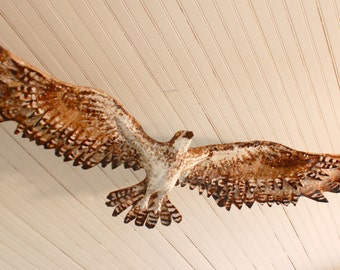 Custom Osprey Flying Bird Sculpture