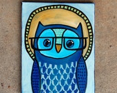 """Owl Painting - Number 7 of Series """"Rupert"""""""