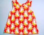 Little Girl Pinafore Dress - The Ethel Dress (Garden Fawn)