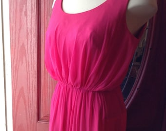 Vintage Pink Chiffon Gown