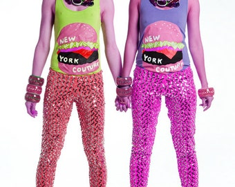 Sale New York Couture Limited Edition VIXEN Sequin Leggings Pants (as seen in GLAMOUR Magazine)