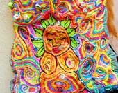 Mother Earth SunGoddess Hand Embroidered HandBag