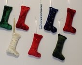 Fabric Ornament / Package Toppers - Miniature Stockings