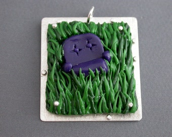 SMaddock OOAK Sterling Silver Polymer Clay Pendant