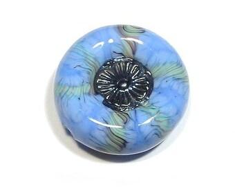 Periwinkle Dream handmade Glass Lampwork Focal