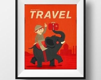 Fine Art Print - Travel Illustration