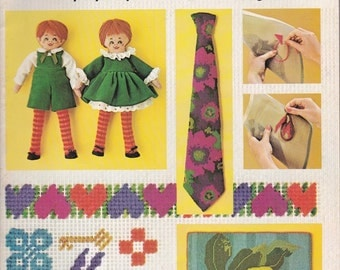 McCall's Needlepoint For Beginners with Step-by-Step Instructions for Beginners - 1972 - Vintage Pattern Book