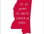 MISSISSIPPI | I'm So Happy | state print | state art | state typography | love | anniversary gift for men | valentines day gift for him