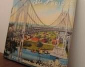 St. Johns Bridge Portland Oregon Tile Coaster