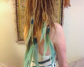 Single ended long feather extensions for dreads- CUSTOM MADE