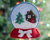 Snow Globe Ornament PDF PATTERN