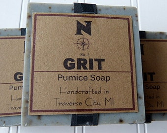 Grit Pumice Soap Handmade Soap Cold Process Mens