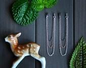 Shana Earrings - ear jacket simple affordable everyday modern minimal multi chain earrings