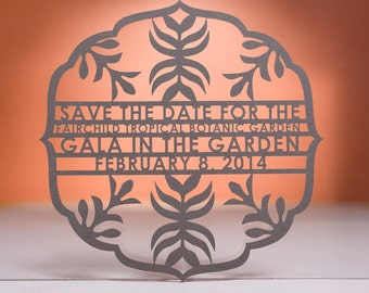 Ritzy Save the Date, Laser Cut
