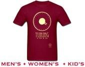Alan Turing Shirt, Computer Programmer Tshirt, Computer Scientist, Rock Star Steampunk Shirt, Enigma Machine, Cypher Code Breaker Shirt