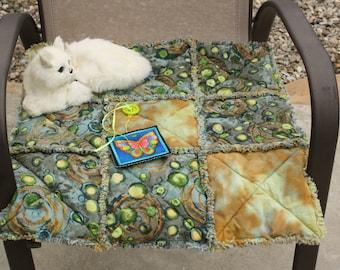 Cat Blanket, Cat Quilt, Blanket For Cats, Small Dog Blanket, Fabric Mat, Designer Cat Bed, Travel Pet Blanket, Crate Mat, Fabric Cat Quilt