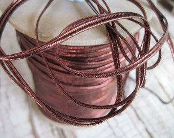 soutache dark metallic copper 10 yards