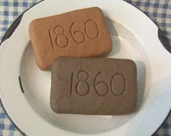 1860 Carved Soap Bar Vintage Primitive Silicone Mold