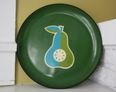 Mod Pear Platter / Royal Sealy Japan / Round Serving Tray / Melmac