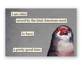Fatal American Need Magnet - Bird - Humor - Mincing Mockingbird - Gift - Stocking Stuffer