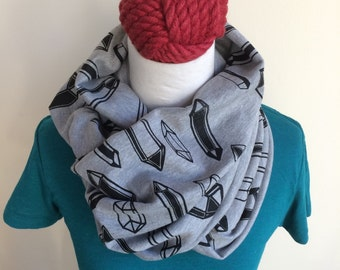 Crystal Screenprinted Circle Infinity Scarf