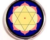 Krishna Yantra Pill Box Case Pillbox Sacred Geometry Hindu Spiritual Symbol Hippie Festival