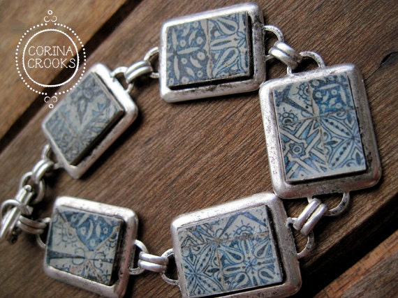 Portuguese tile bracelet tile mural pattern via portugal 5 for Mural jewellery