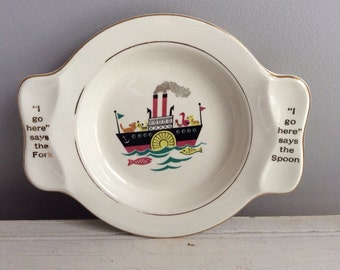 "Adorable 1940's vintage ""My Own Plate Homer Laughlin"