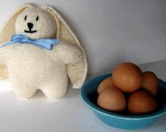 Cream Hand Knit Bunny Rabbit - Soft Toy