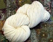 Handspun Yarn Natural Falkland Wool 188g 332 Yards Chunky HSF01