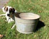 Vintage Galvanized Steel Bucket