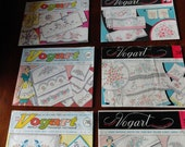 Lot of 6 Vintage VOGART Image Transfer Embroidery or Painting Patterns