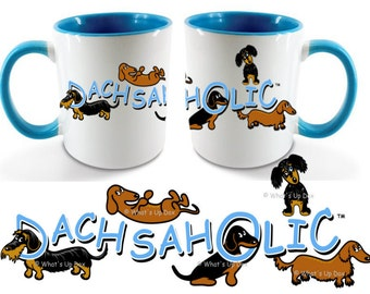 Dachshund Dachsaholic Ceramic Coffee Mug