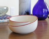FREE SHIPPING Whirl Bowl with Red Accent