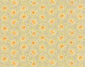 SALE - Somerset - Scroll Mums in Fog Gray: sku 20231-18 cotton quilting fabric by Fig Tree for Moda Fabrics - 1 yard