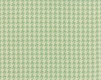 SALE - Somerset - Houndstooth Check in Rain Washed Aqua: sku 20235-15 cotton quilting fabric by Fig Tree for Moda Fabrics - 1 yard