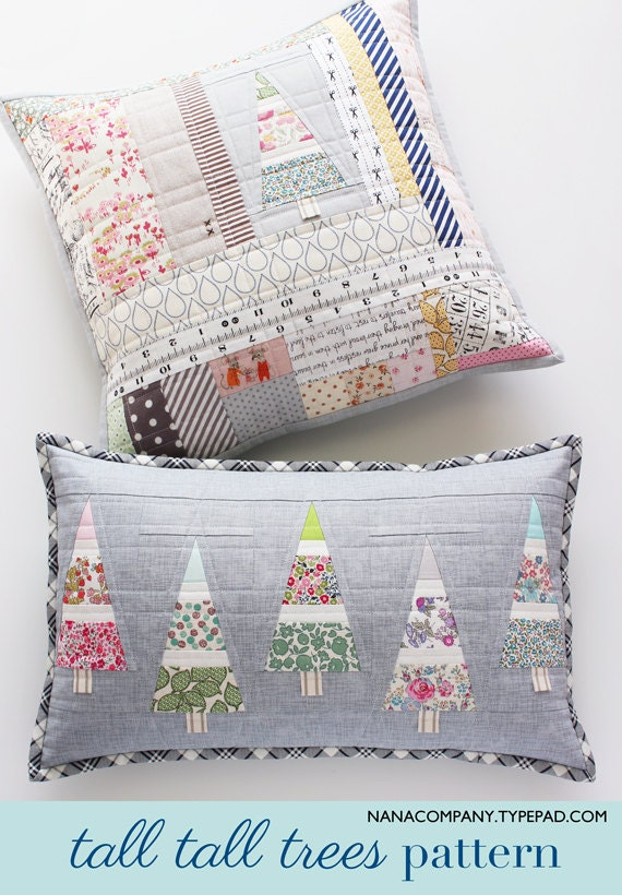 Quilting Patterns For Pillow Covers : Tall Tall Trees PDF pattern