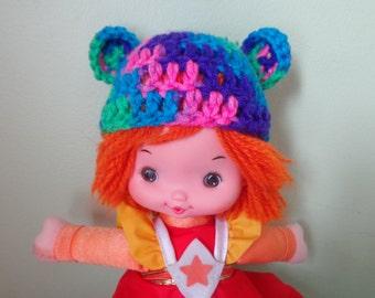 CONFETTI bear ears for rainbow brite